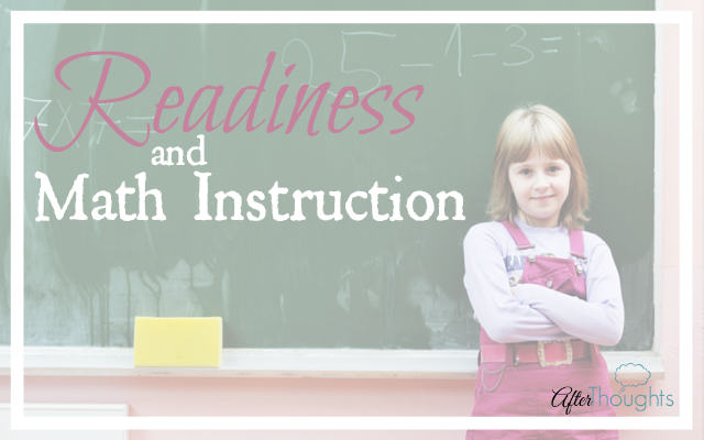 Readiness and Math Instruction 2