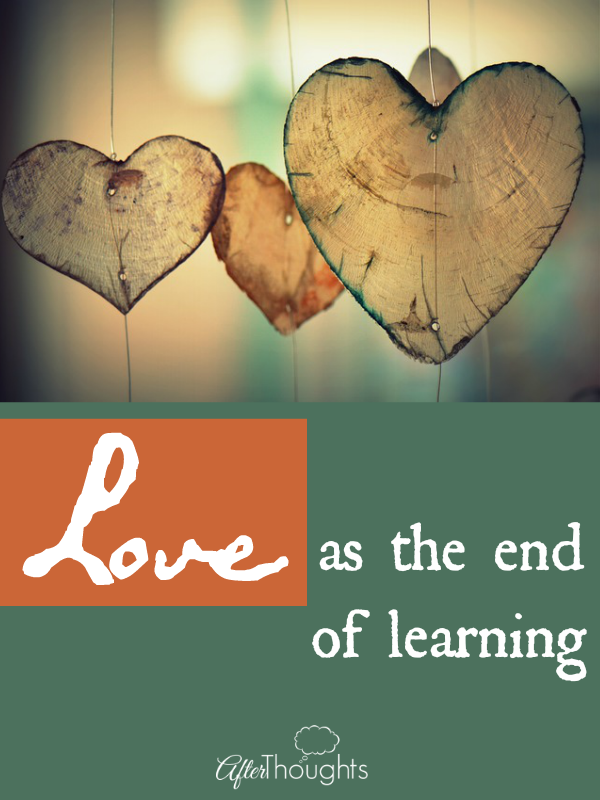 Love as the end of learning