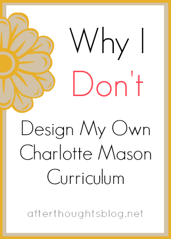 Why I Don't Design My Own CM Curriculum