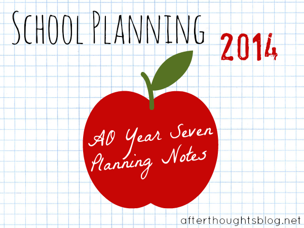Ramblings about planning AO Year Seven...for the first time.