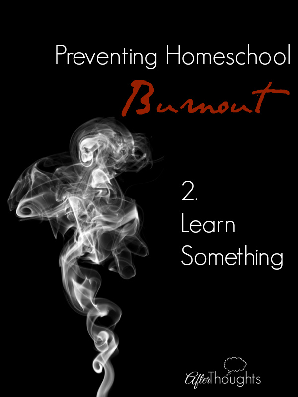 Preventing Homeschool Burnout: Learn Something