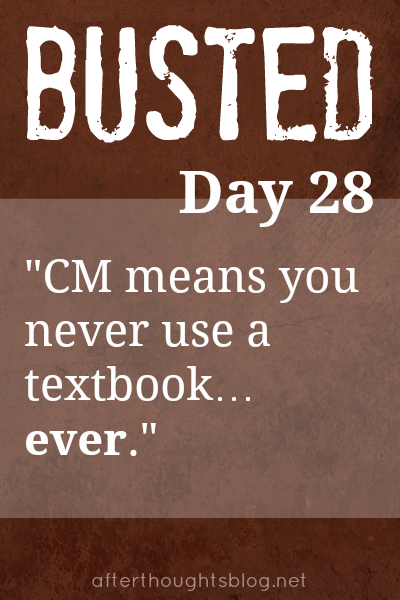 Myth: Charlotte Mason means you never use a textbook … ever.
