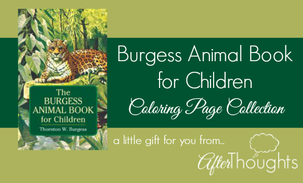 burgess animal book coloring pages - photo#4