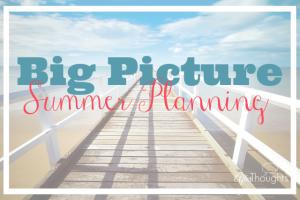 Big Picture Summer Planning