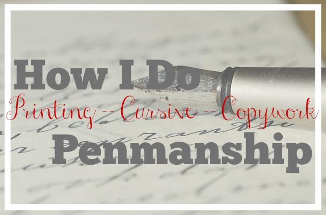 How I Do Penmanship