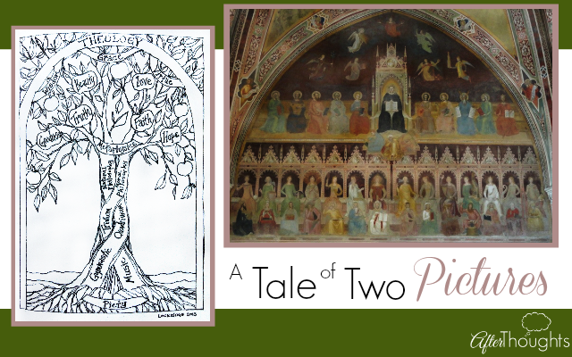The Liberal Arts Tradition has its tree drawing, and the Charlotte Mason philosophy has its ancient fresco -- a look at both of them.