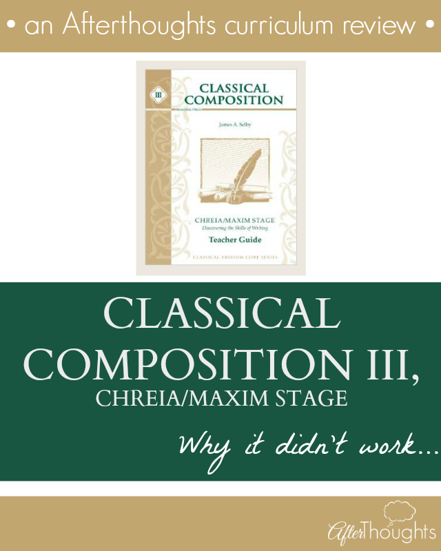 Classical Composition III Why it didn't work