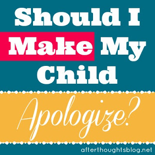 Should I Make My Child Apologize? {Part One}