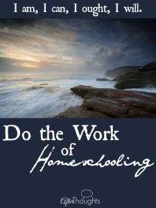 Do the Work of Homeschooling