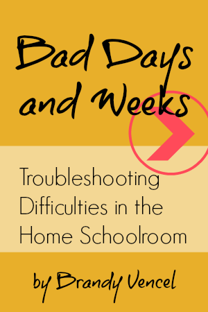 Bad Days and Weeks: Troubleshooting Difficulties in the Home Schoolroom MP3