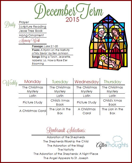 DecemberTerm Plans 2015