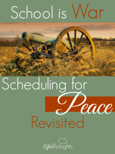 School is War: Scheduling for Peace Revisited