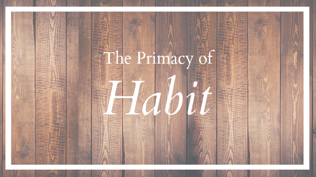 I was struck by how we often say we do not have time for the habit training in the younger years, when this is exactly what the younger years are all about.