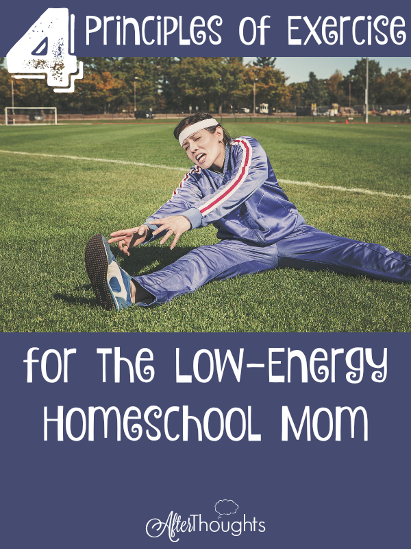 A brief guide to making decisions regarding an exercise regimen, for homeschool moms whose energy supplies are already overdrawn.