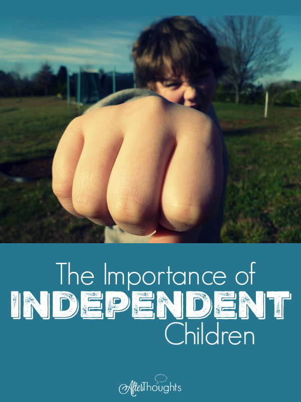 Being low-energy and thriving at homeschooling means training your children to be independent. Today, we present five principles of independence!