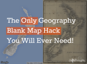 Geography, Google, and You: a Primer on Making Blank Maps