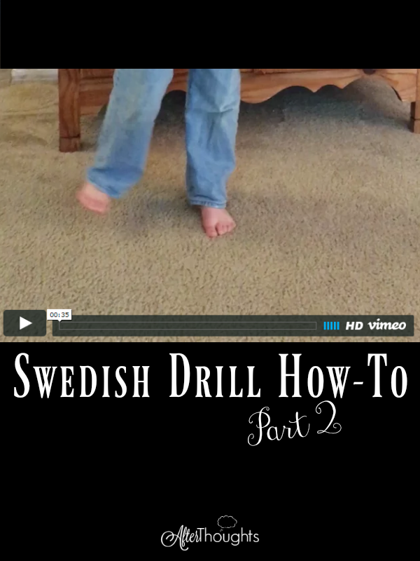 Are you read to add FIVE new exercises to your Swedish Drill repertoire? Instructions and videos and encouragement from Dawn.