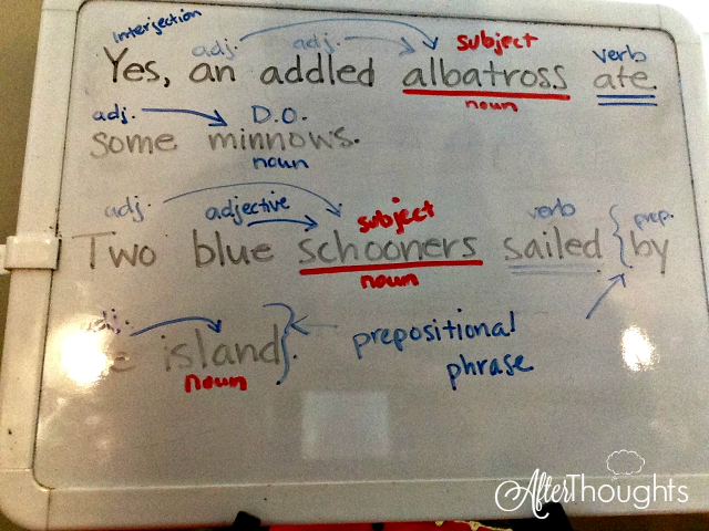 Simple and easy grammar lessons using a whiteboard, dry erase markers, and a teacher's manual during Circle Time -- the type of lessons you will WANT to do!