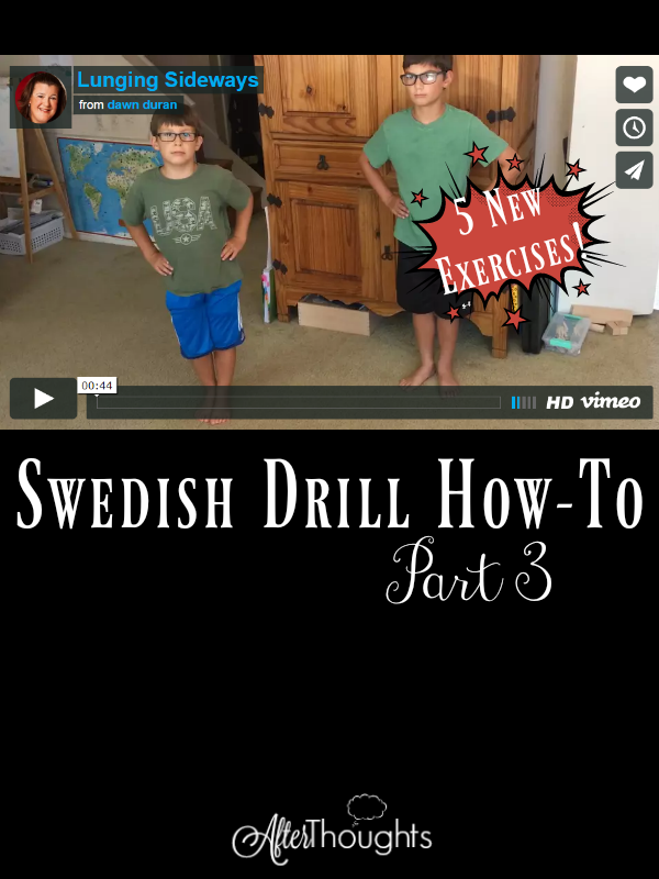 Today, Dawn Duran adds another FIVE new exercises to your Swedish Drill repertoire! Don't miss her helpful instructions, videos, and encouragement.