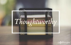 Thoughtworthy (Audio on Sale, Goody-Goody Books, and MORE!)