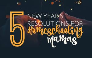 5 New Year's Resolutions for Homeschooling Mamas