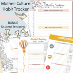 SPRING Mother Culture Habit Tracker with Coordinating Student Reading Habit Trackers